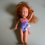Dolly Surprise Polly 1987 Playskool hair growing doll @sold@